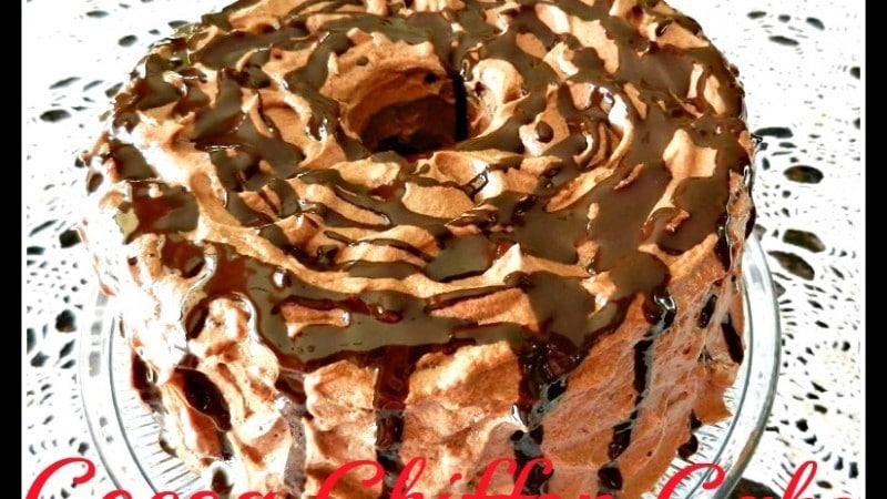 Cocoa Chiffon Cake recipe