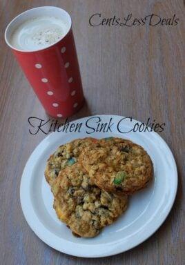 Kitchen Sink Cookies recipe - CentsLess Meals