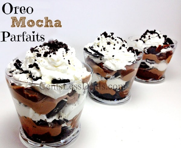 oreo mocha parfaits recipe! HEAVEN on a spoon!