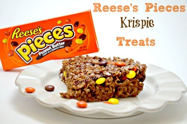 reese's pieces rice krispie treats recipe. YUMMY!