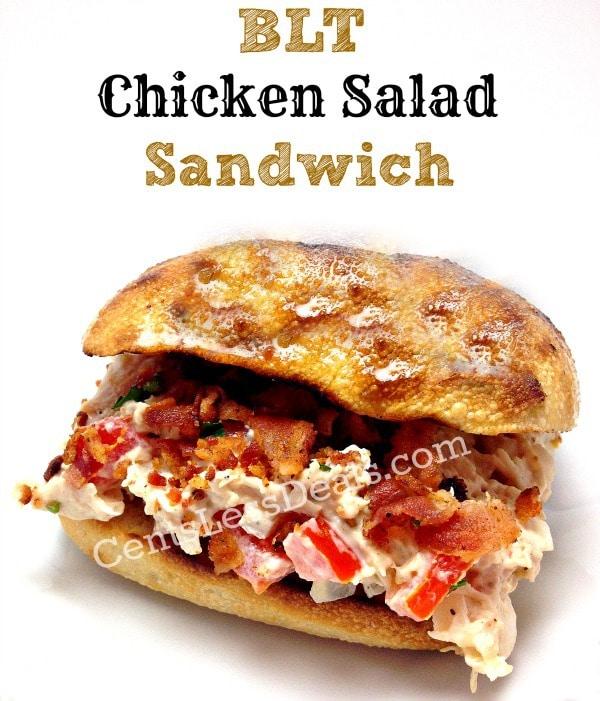 BLT chicken salad sandwich my favorite!