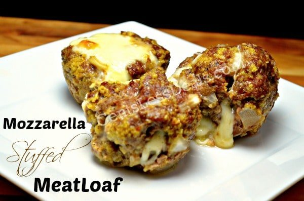Mozzarella Stuffed Meatloaf Minis