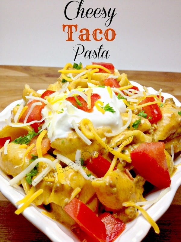 cheesy taco pasta it's delicious!