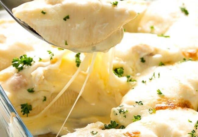 Cheesy Chicken Stuffed Shells recipe