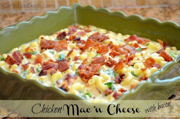 Chicken Mac 'n Cheese with Bacon recipe - CentsLess Deals