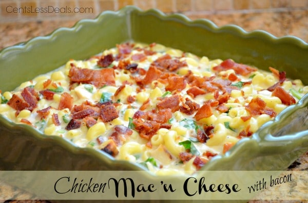 Chicken Mac 'n Cheese with Bacon recipe