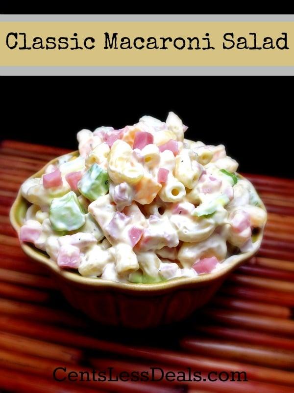 Classic Macaroni Salad recipe - CentsLess Deals