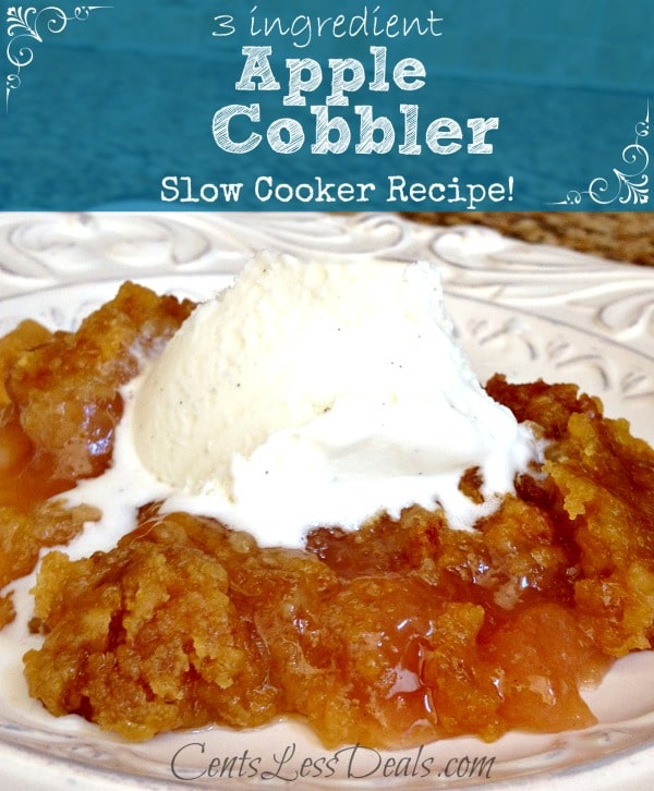 Slow Cooker Apple Cobbler With Spice Cake