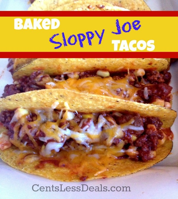 baked sloppy joe tacos