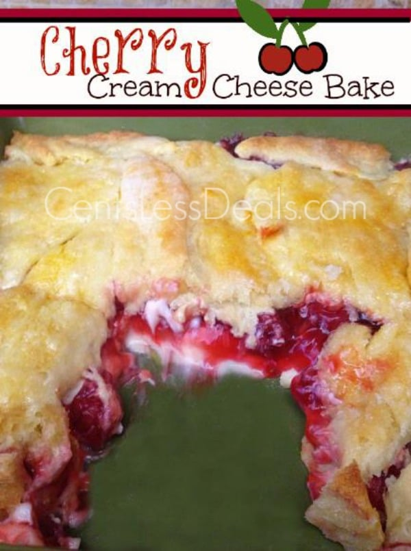 cherry cream cheese bake recipe YUMMY!