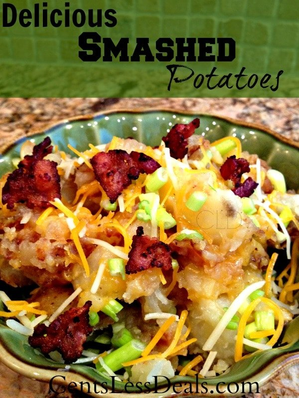 delicious smashed potatoes recipe. This is by far the best potatoes recipe I've found on pinterest so far!!