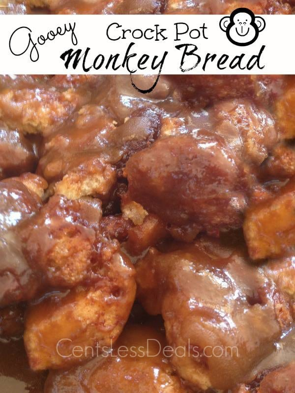 Gooey Crock Pot Monkey Bread recipe