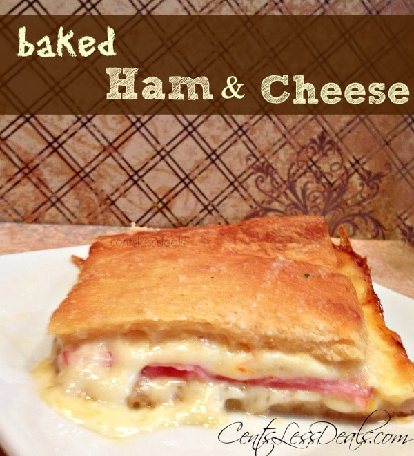 ham & cheese crescent bake