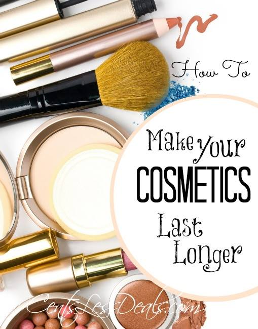 Makeup with a title for how to make your Cosmetics last longer