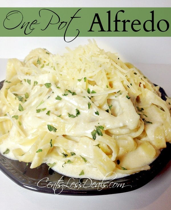 Easy One Pot Alfredo dinner