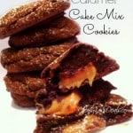 chocolate caramel cake mix cookies