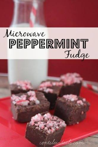 Microwave Chocolate Peppermint Fudge recipe - CentsLess Deals
