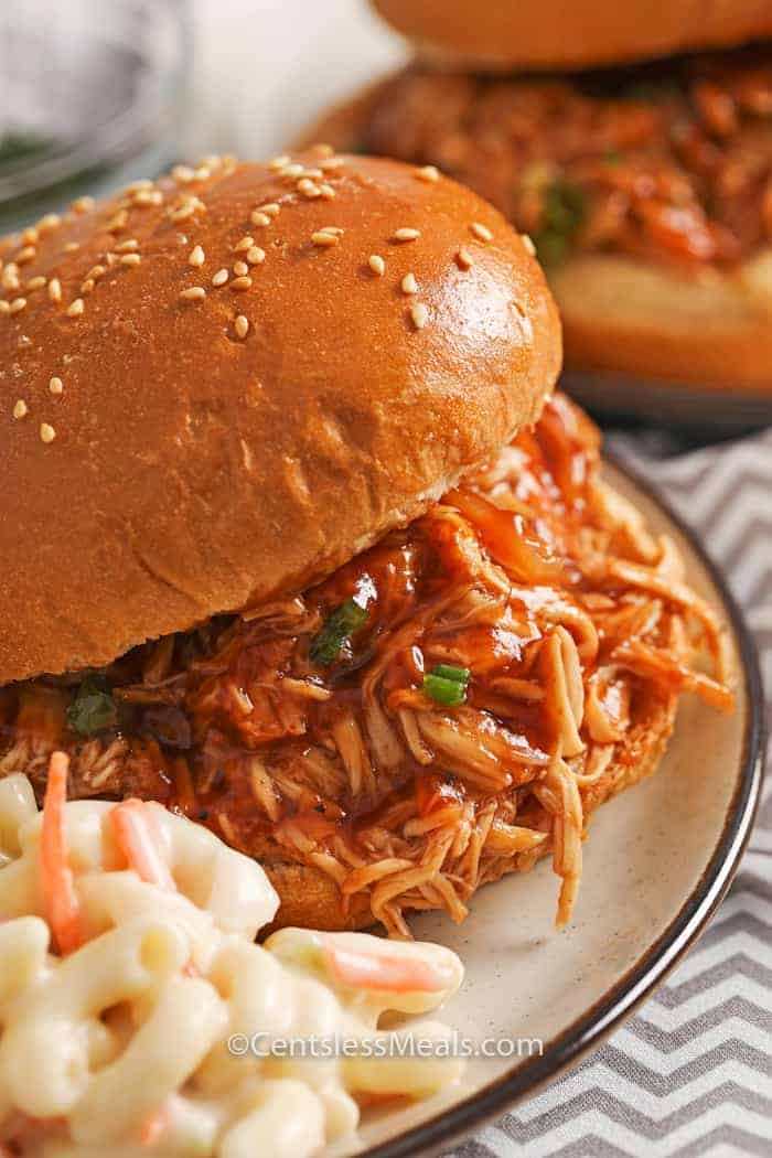 Crockpot Bbq Beer Chicken Sandwiches Recipe Centsless Meals