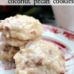 no bake coconut pecan cookies
