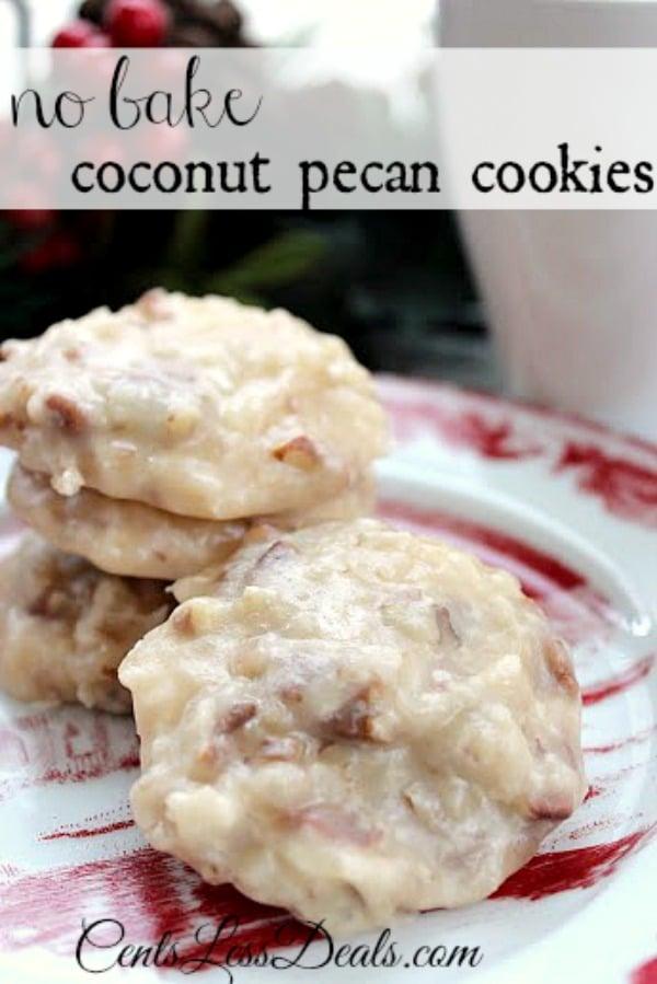 no bake pecan cookies
