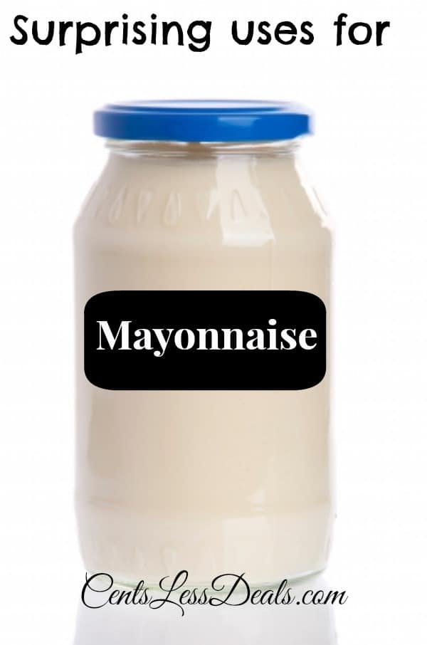 Jar of mayonnaise for surprising uses for mayonnaise with a title