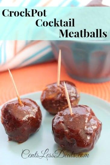 CrockPot Cocktail Meatballs - CentsLess Deals