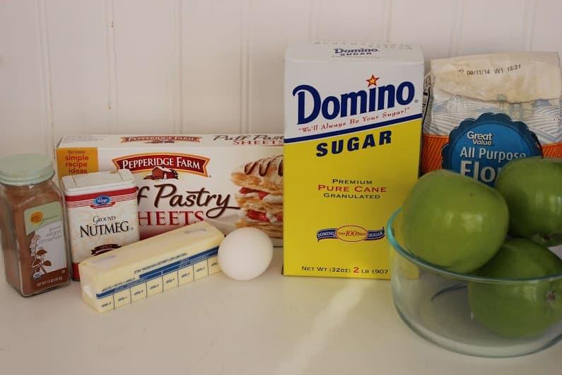 Ingredients for copycat McDonald's apple pie