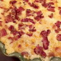 creamy corn casserole with bacon