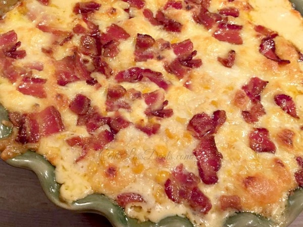Three Cheese Corn Casserole with Bacon Recipe