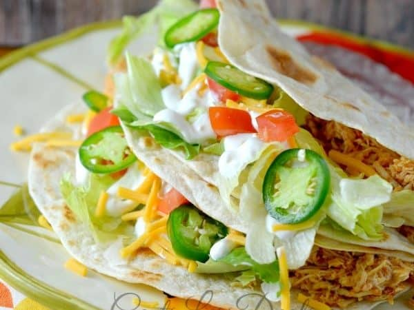 Easy Crockpot Chicken Tacos recipe