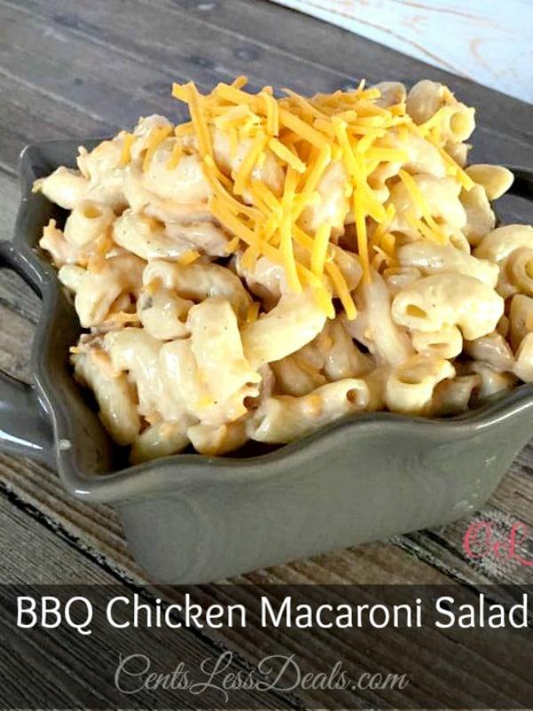 bbq chicken macaroni salad recipe