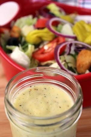 Copycat Olive Garden Salad Dressing recipe. This recipe is spot on! I love Olive Garden copycat recipes!