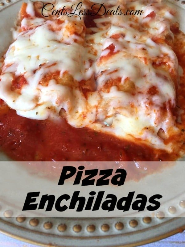 Pizza Enchiladas make a quick and easy mid week snack