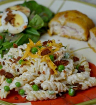 Barber Foods Chicken Cordon Bleu and Bacon Cheddar Pasta salad!