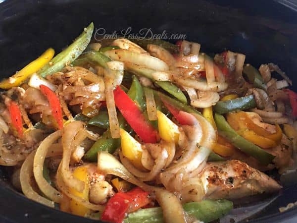 Crockpot chicken fajitas recipe centsless meals crockpot chicken fajitas brings all the zesty goodness of peppers and onions combined with the mexican forumfinder Gallery