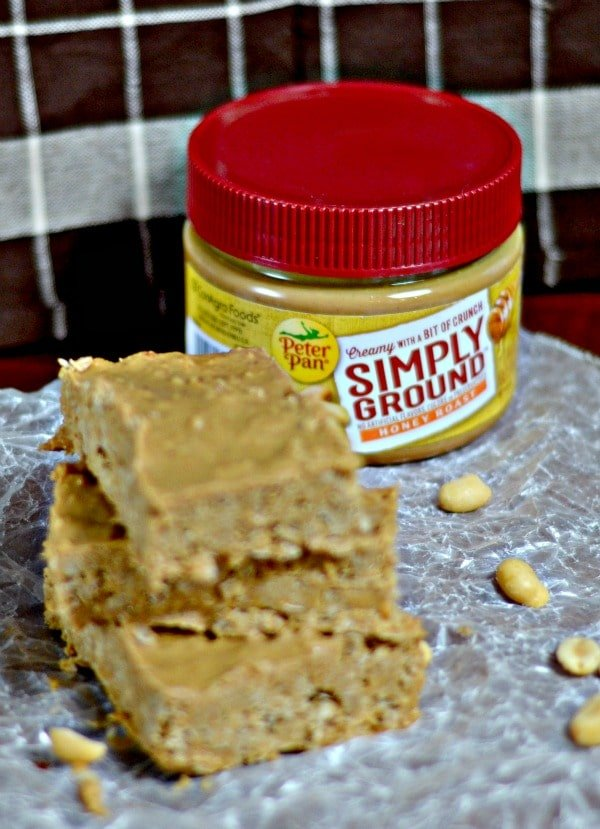 Peter Pan simply ground peanut butter with no bake peanut butter oatmeal bars