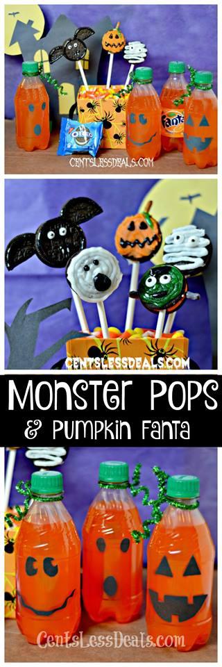 Monster Pops and Fanta Pumpkins! Super fun Halloween activities!