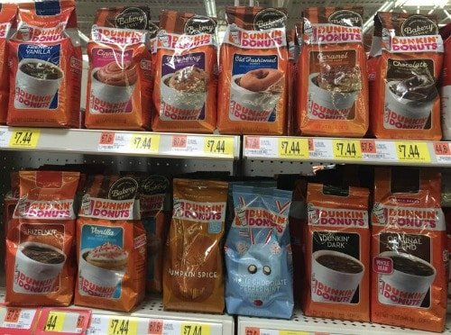 Coffee on the Shelf at the grocery store