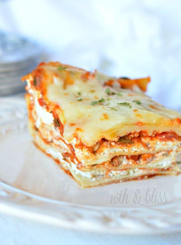 lasagna recipe with cream cheese