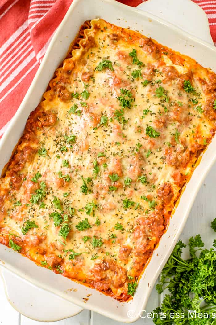 Cream Cheese Lasagna recipe - CentsLess Meals