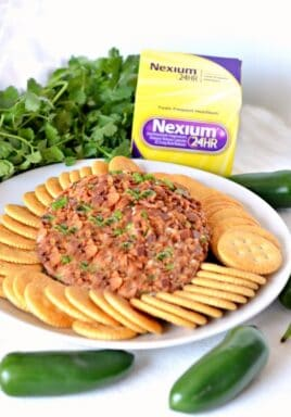 Nexium medication with jalapeno and bacon cheese ball