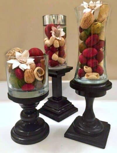 3 ornaments made with gorilla glue
