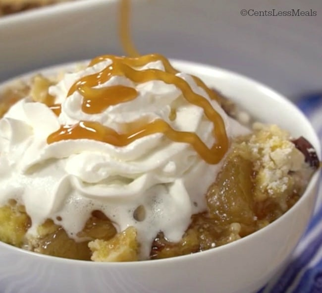 Dump Cake With Apple Pie Filling And Caramel