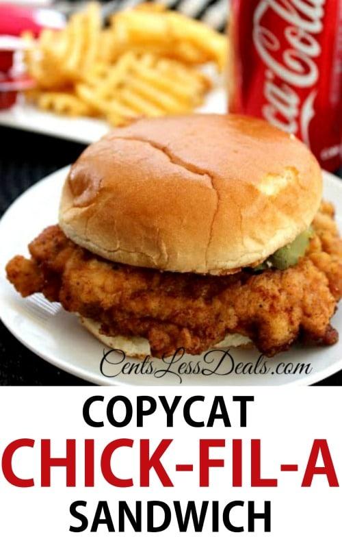 Copycat Chick Fil A Sandwich Recipe Centsless Deals