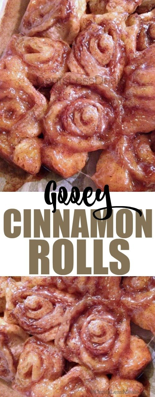 This Gooey Cinnamon Rolls Recipe is so easy and the results are so delicious! It is hard to believe no yeast is needed to create such a heavenly treat!