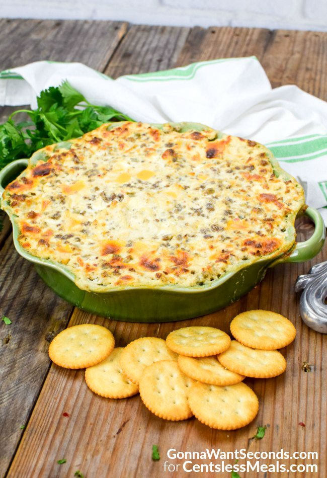 Hissy Fit Dip is a delicious dip loaded with sausage, cheese and flavor!