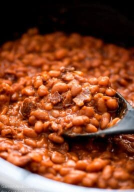 Crock pot baked beans are a great side dish
