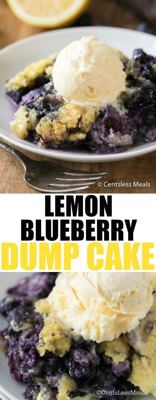 Recipe with lemon cake mix and blueberry