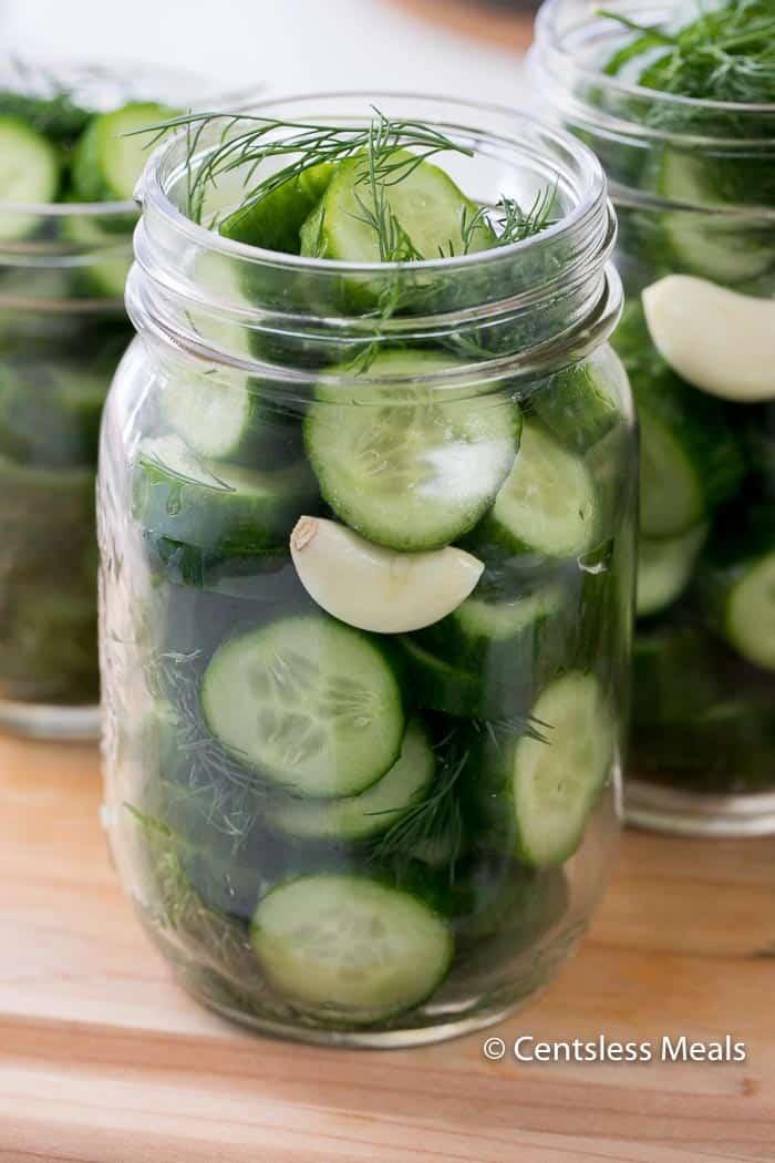 Garlic Dill Refrigerator Pickles - CentsLess Deals