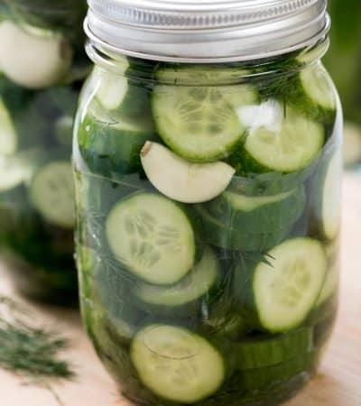Garlic Dill Refrigerator Pickles